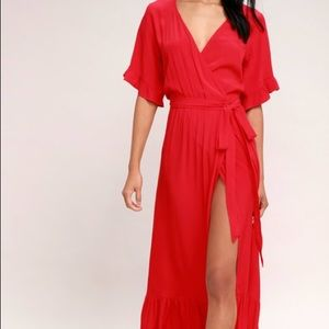 Lucy Love Enchanted Red Midi Dress